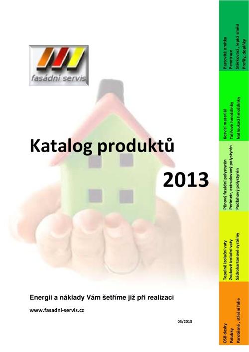 Fasádní servis - katalog 2013