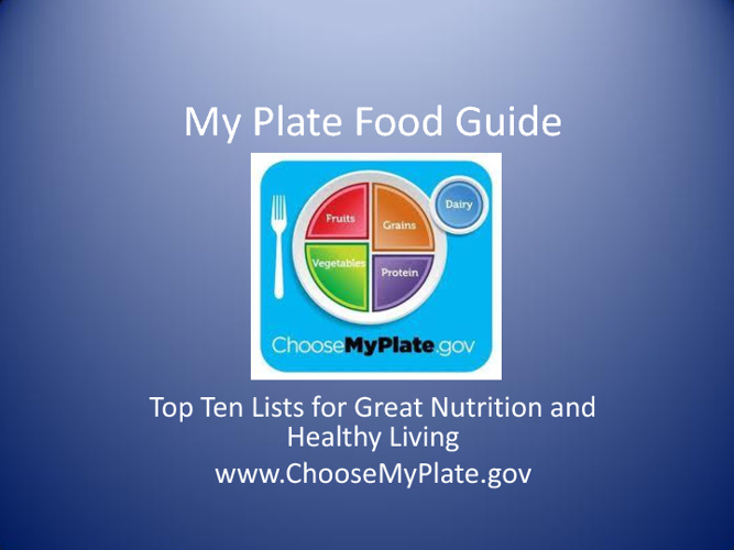 Food, Nutrition and Top Ten Tips