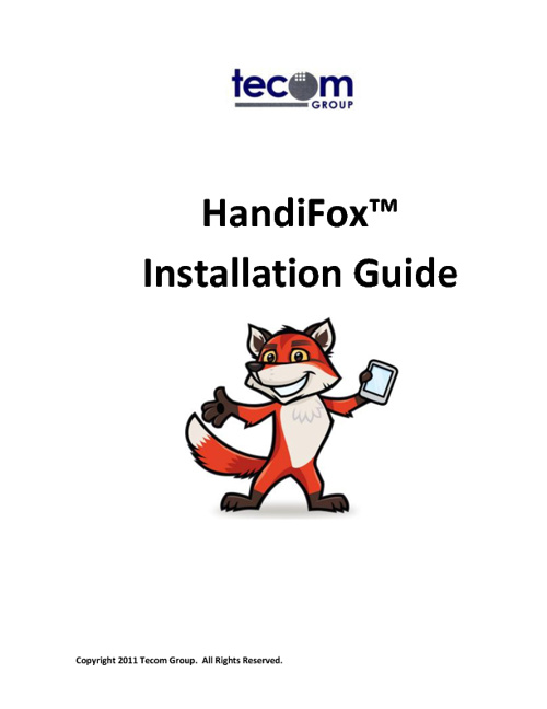 HandiFox Installation Guide