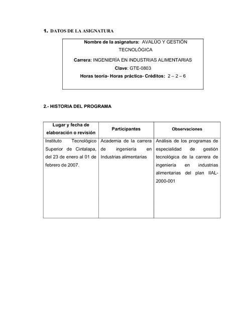 PROGRAMA DE ESTUDIOS AGT