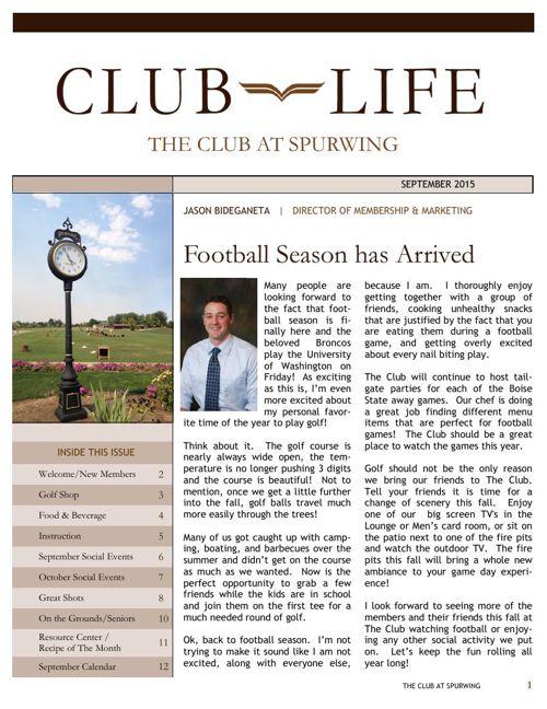 Club Life September 2015