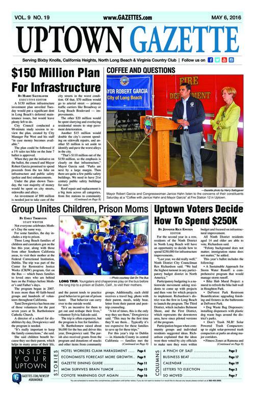 Uptown Gazette  |  May 6, 2016