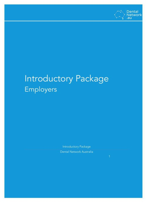 Introductory Package - Employer