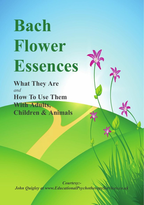 Bach Flower Essences for Adults, Children & Animals