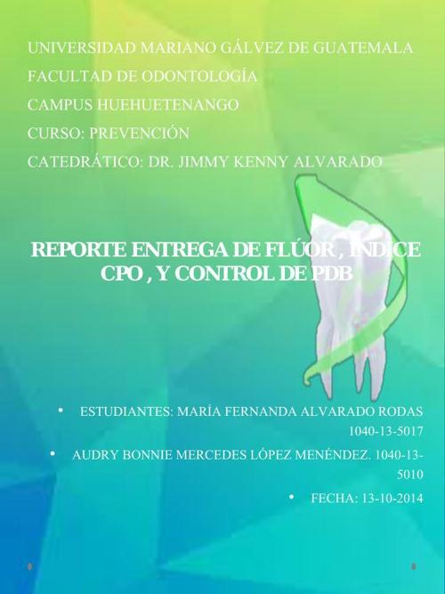 REPORTE CPO PDB