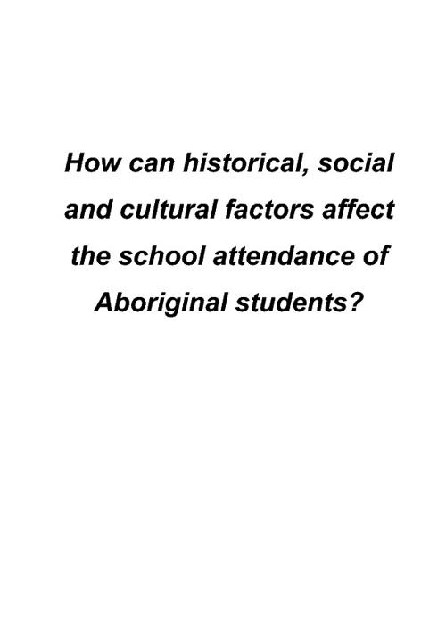 Aboriginal Education Essay