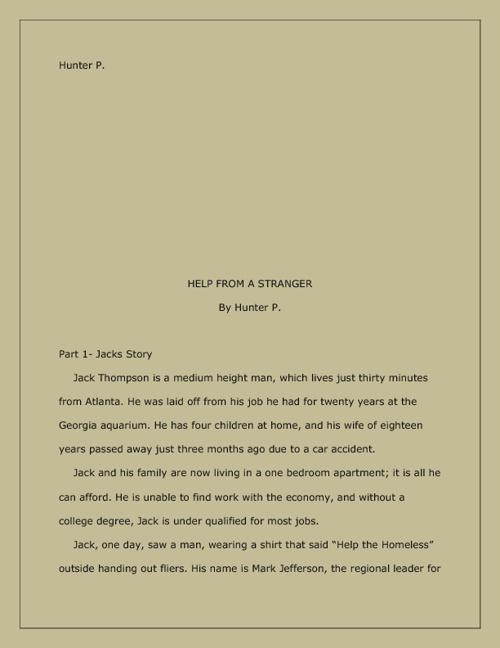 Genre 4- Short Story