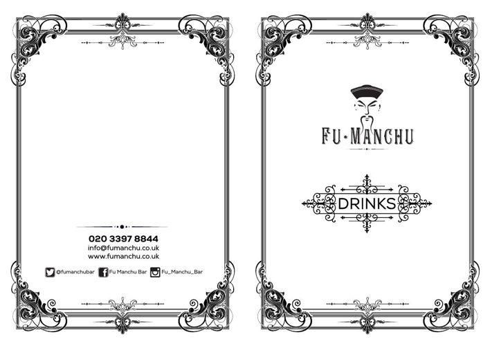 Fumanchu DRINKS Menu