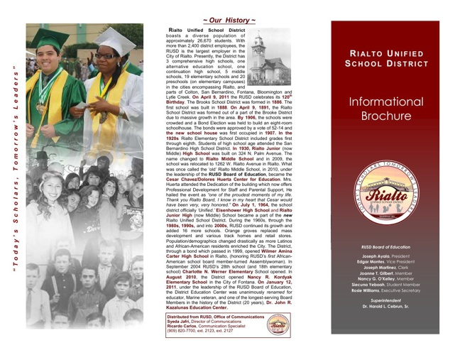 District Brochure