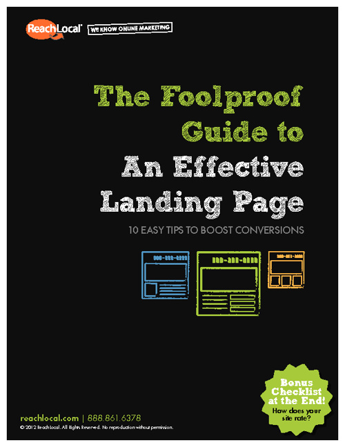 Foolproof Guide To Effective Landing Pages 2012 (