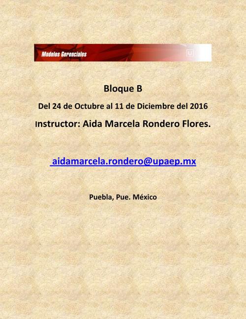 Estructura del curso otoño 2016