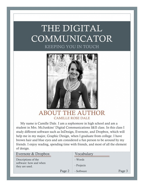 The Digital Communicator- Camille Dale