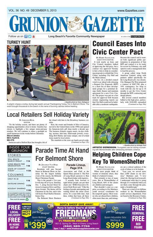 Grunion Gazette | December 5, 2013