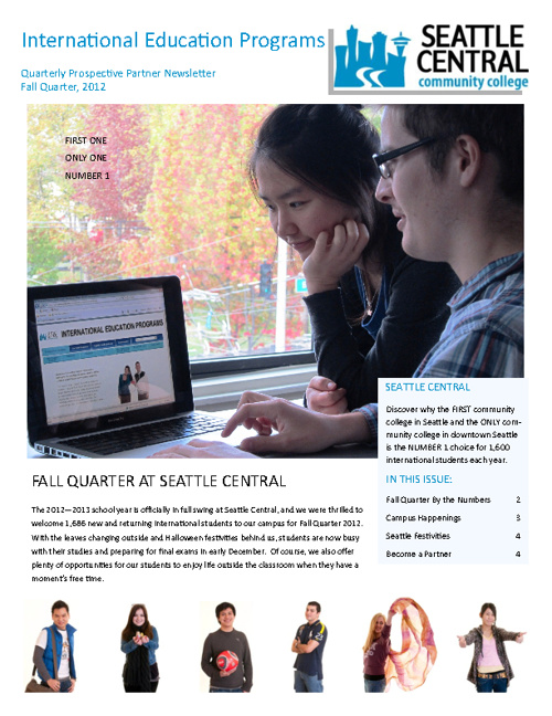 Seattle Central Community College Newsletter - Fall 2012