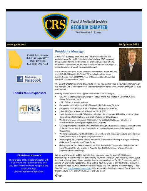 CRS Newsletter