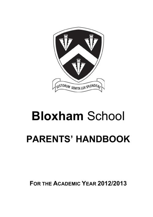 Parents' Handbook 2012/13
