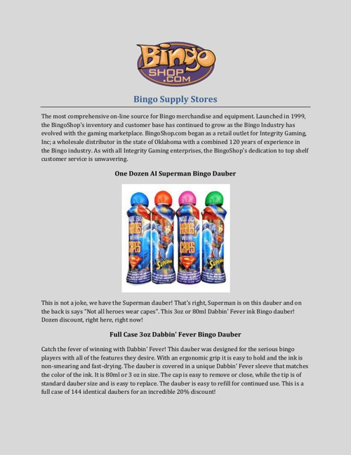 Bingo Supply Stores