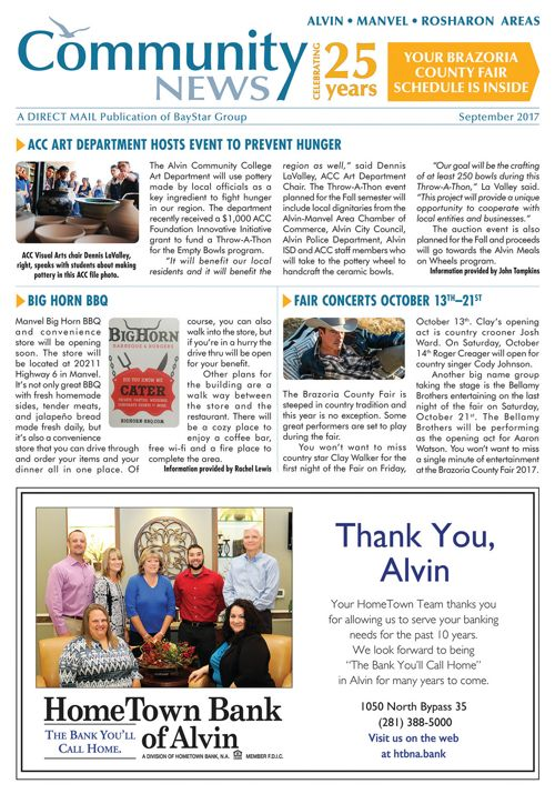 Alvin-Manvel-Rosharon Community News Volume 25 Issue 3