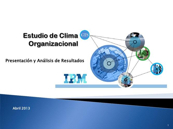 Analisis de Resultados Estudio de Clima Organizacional. GTS-IBM