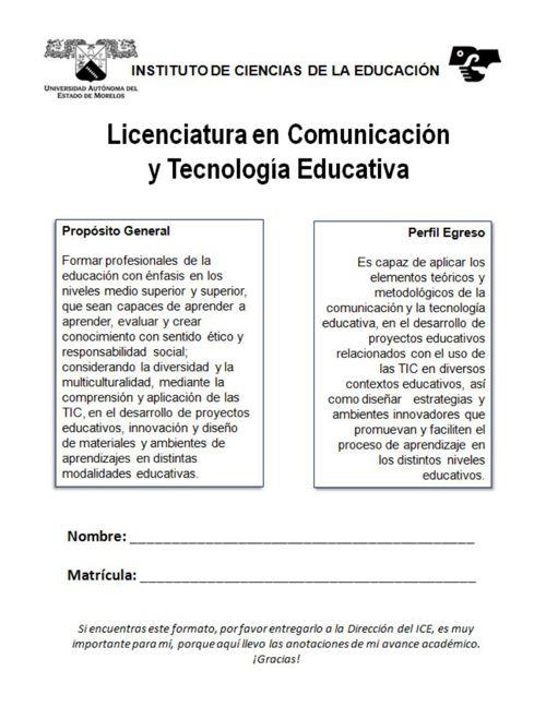 Lic. Comunicación y Tecnología educativa. (1)