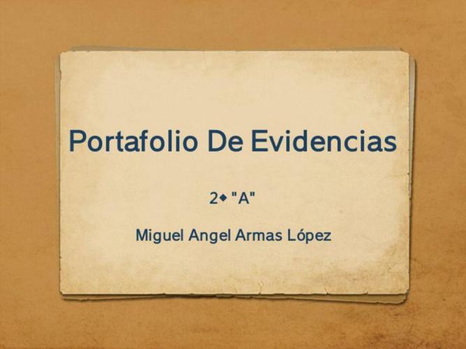 Portafolio De Evidenciaz