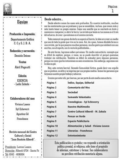 EDICIÓN - SEPTIEMBRE/2015 - COMUNIDAD ACTIVA