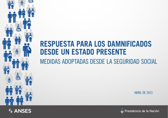 Seg. Social: medidas p/ ciudadanos afectados x las inundaciones