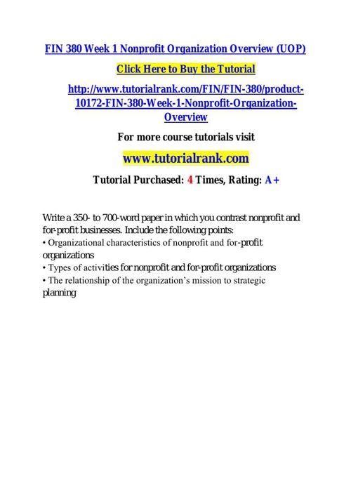 FIN 380 learning consultant / tutorialrank.com
