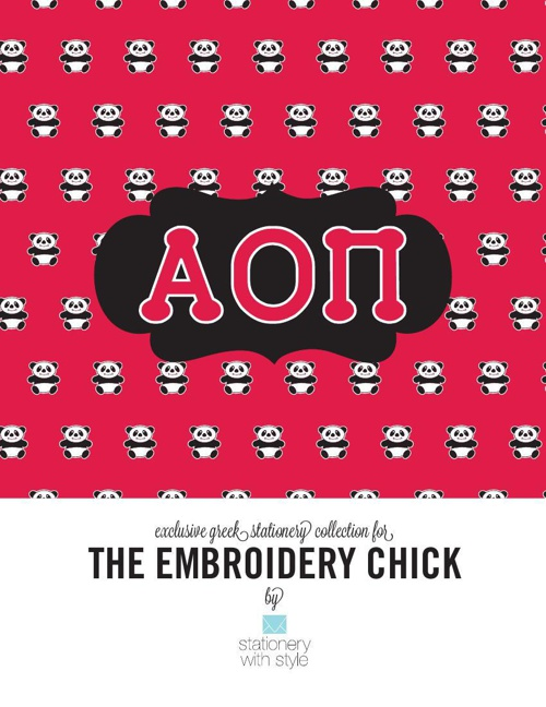 Alpha Omicron Pi Stationery Collection