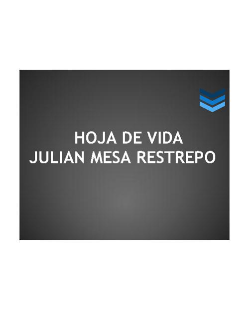 Hoja de Vida Julian Mesa Restrepo