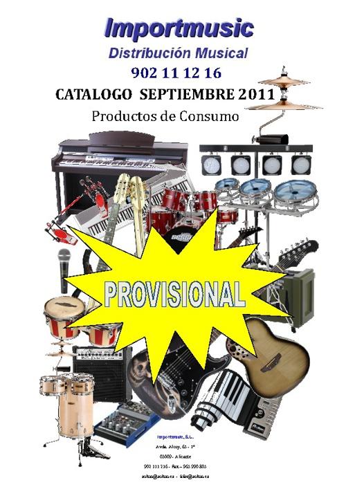 Catálogo Septiembre 2001 - Provisional