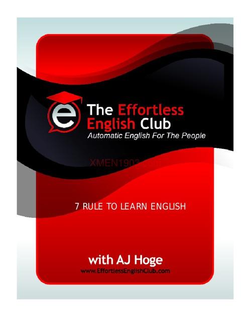7 Rule To Learn English