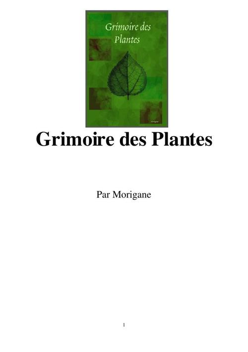 Morigane - Grimoire des Plantes