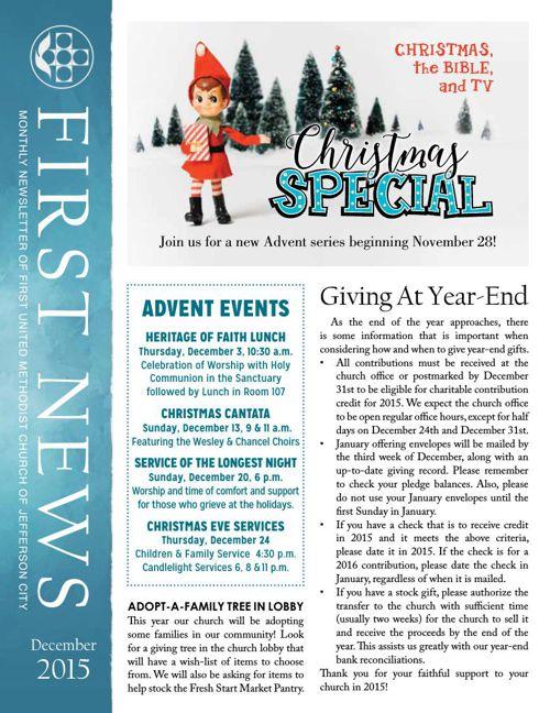 December News from First United Methodist Church