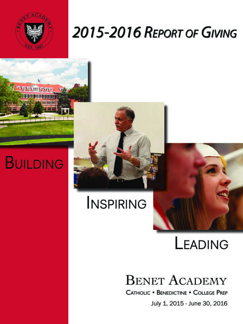 2015-2016 Benet Academy Report of Giving
