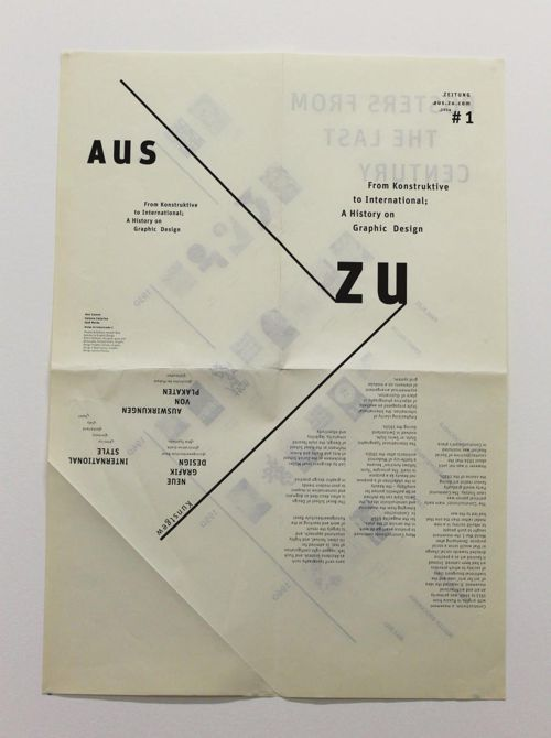 Aus-Zu From Konstruktive to International - A History on Graphic