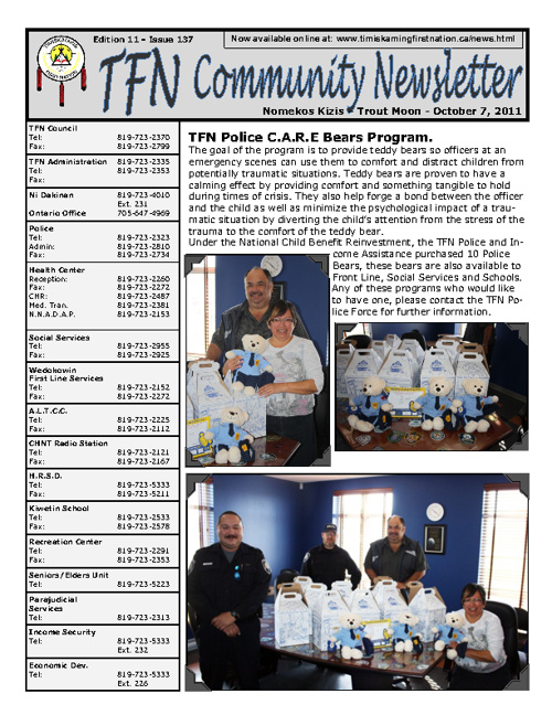 TFN Newsletter - October 7, 2011