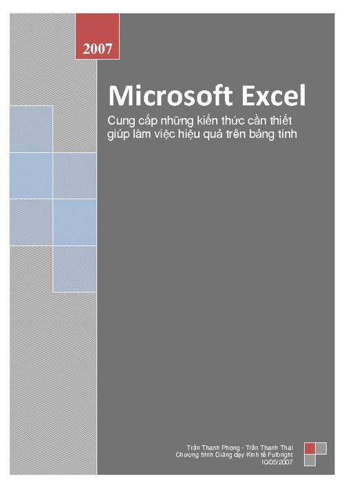 Giới thiệu về Excel 2007