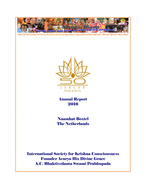 Naamhat annual report 16