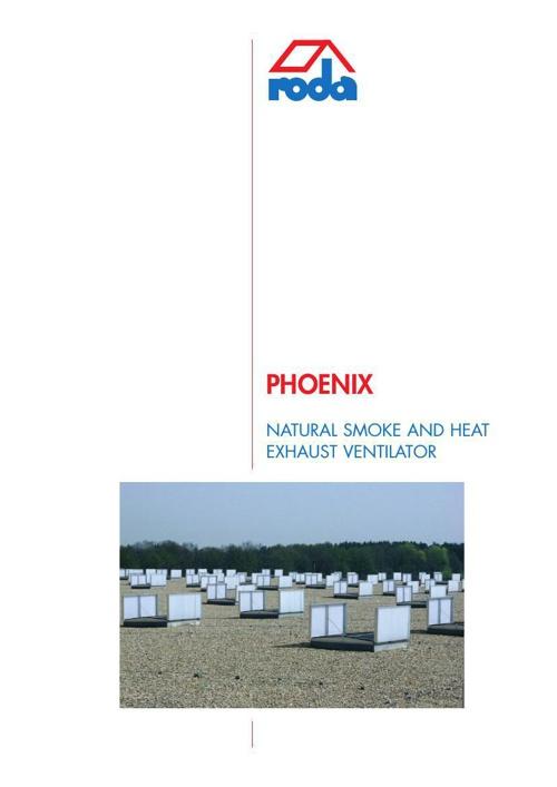 חלונות שחרור עשן,אוורור ותאורה טבעית - PHOENIX