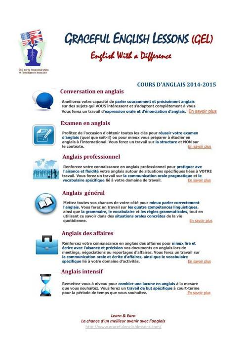 GEL Formules et tarifs 2014 -2015
