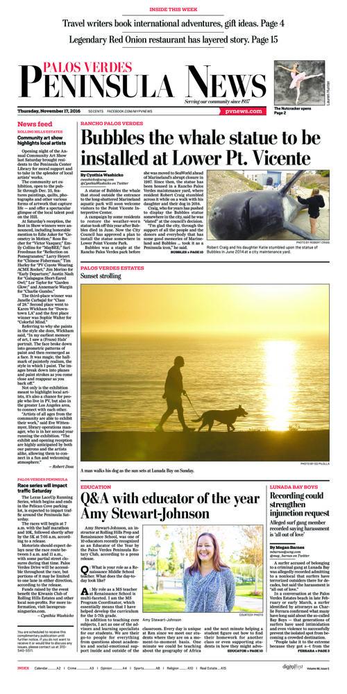 Peninsula News | November 17, 2016
