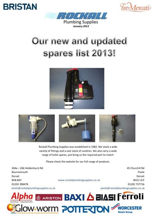 Spares List 2013