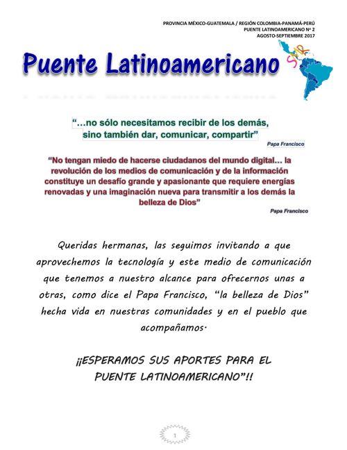 Puente Latinoamericano No. 2 agosto-septiembre 2017