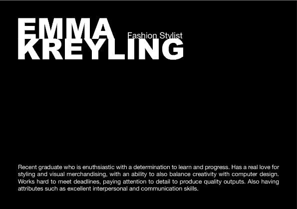 Emma Kreyling's CV