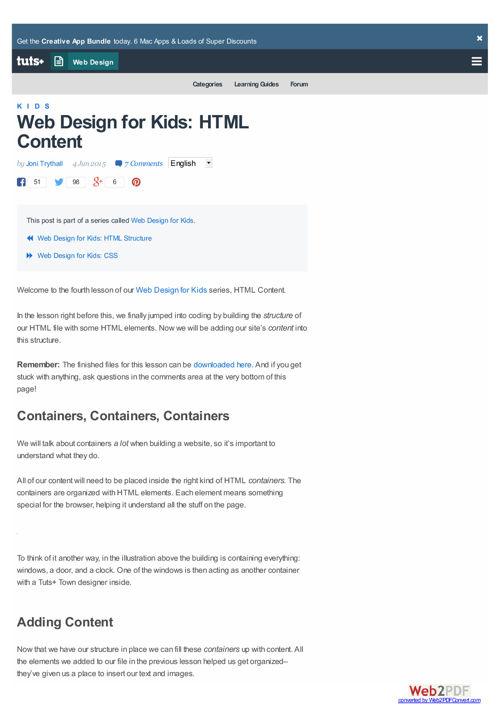webdesign-para crianças