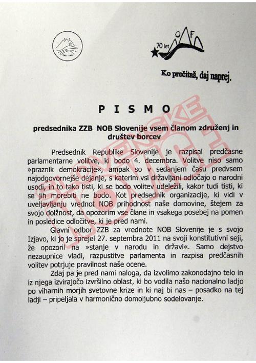Pismo in poziv ZZB NOB (slovenskenovice.si)