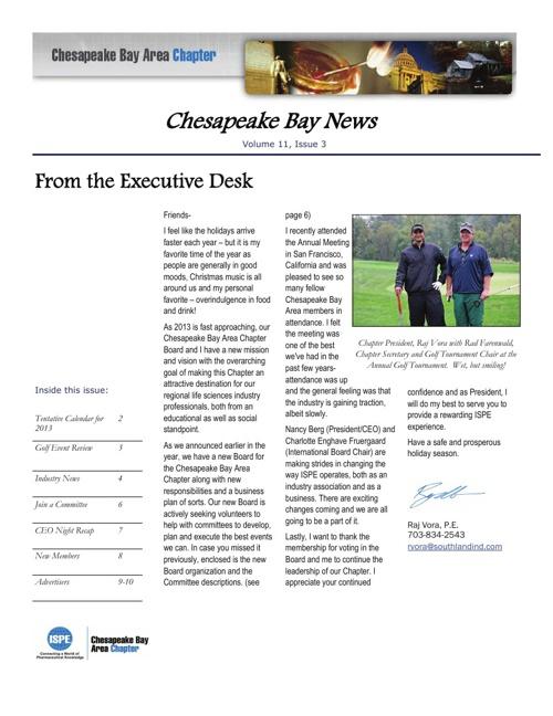 2012 Newsletter #3