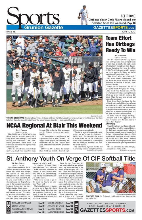 Gazette Sports     June 1, 2017