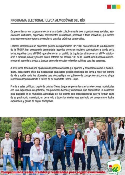 Programa Electoral IU Almodóvar del Rio